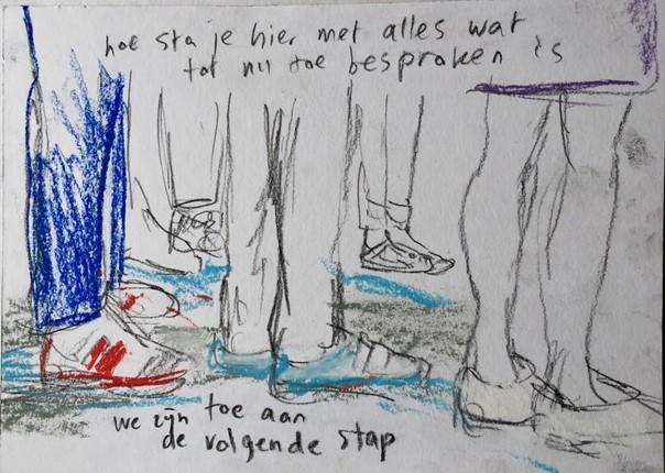 gesprek op voeten